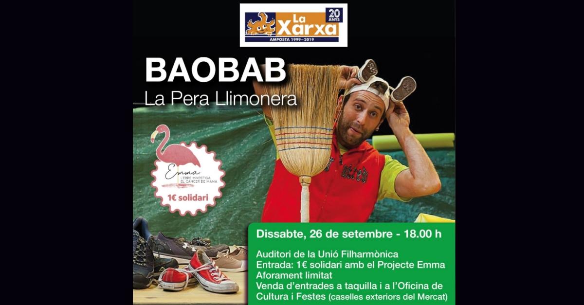 Espectacle familiar teatre de la xarxa: Baobab de la companyia la Pera Llimonera