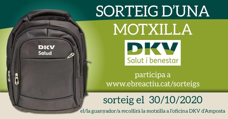 <p>Sorteig motxilla DKV</p>