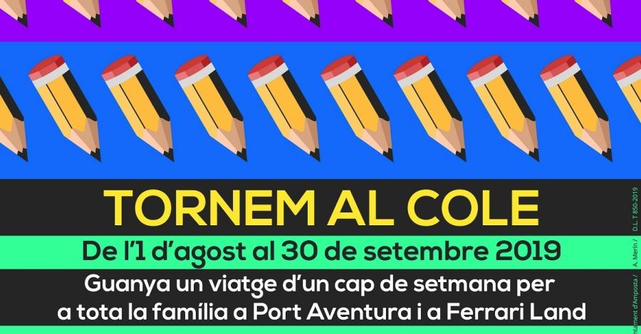 Més de 50 comerços participen en la campanya «Tornem al cole» | Amposta.info
