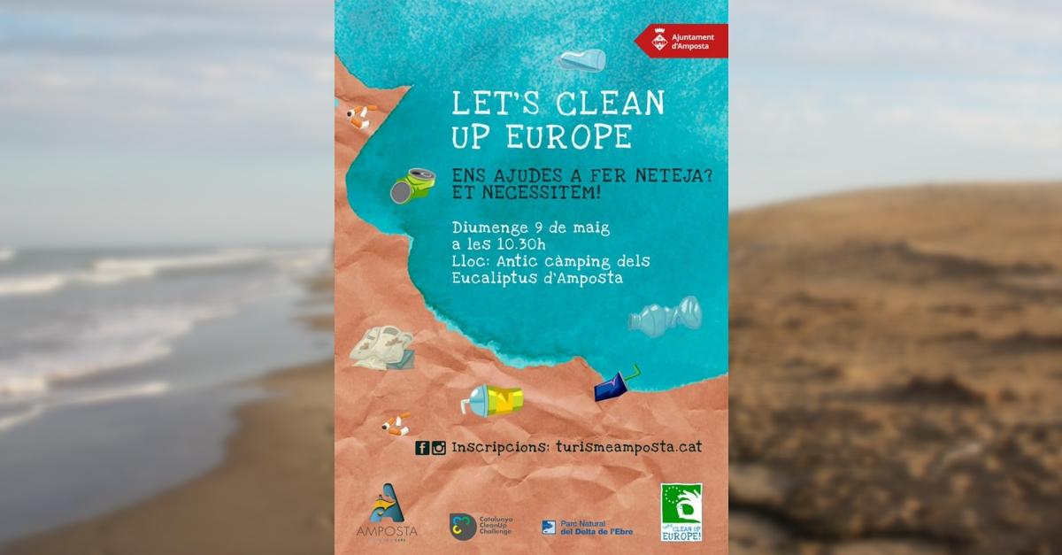 Amposta s'adhereix al Clean Up Challenge 2021 | Amposta.info