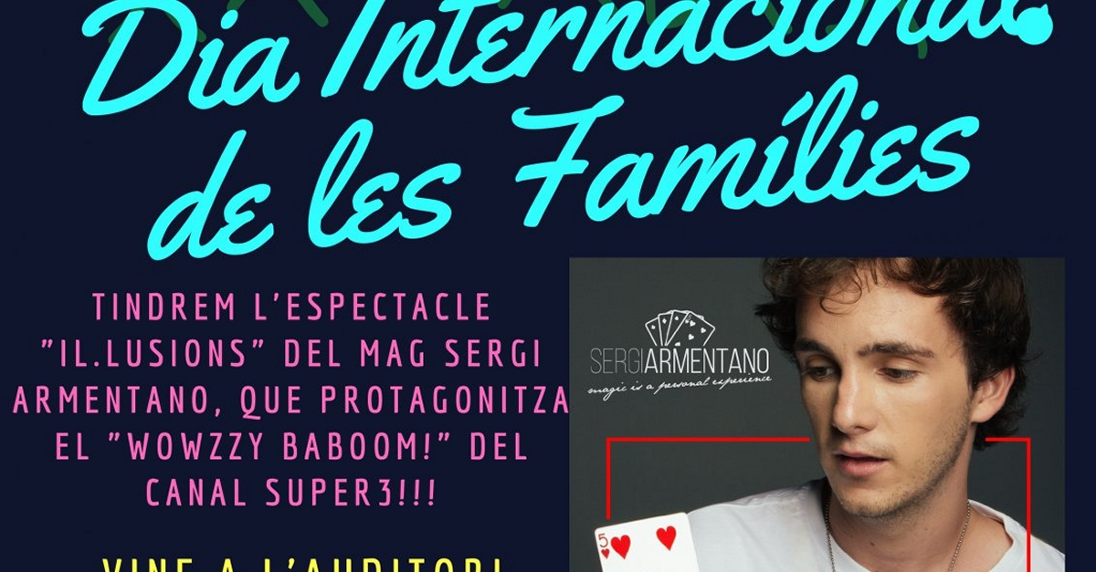 Un espectacle de màgia per celebrar el Dia Internacional de les Famílies | Amposta.info