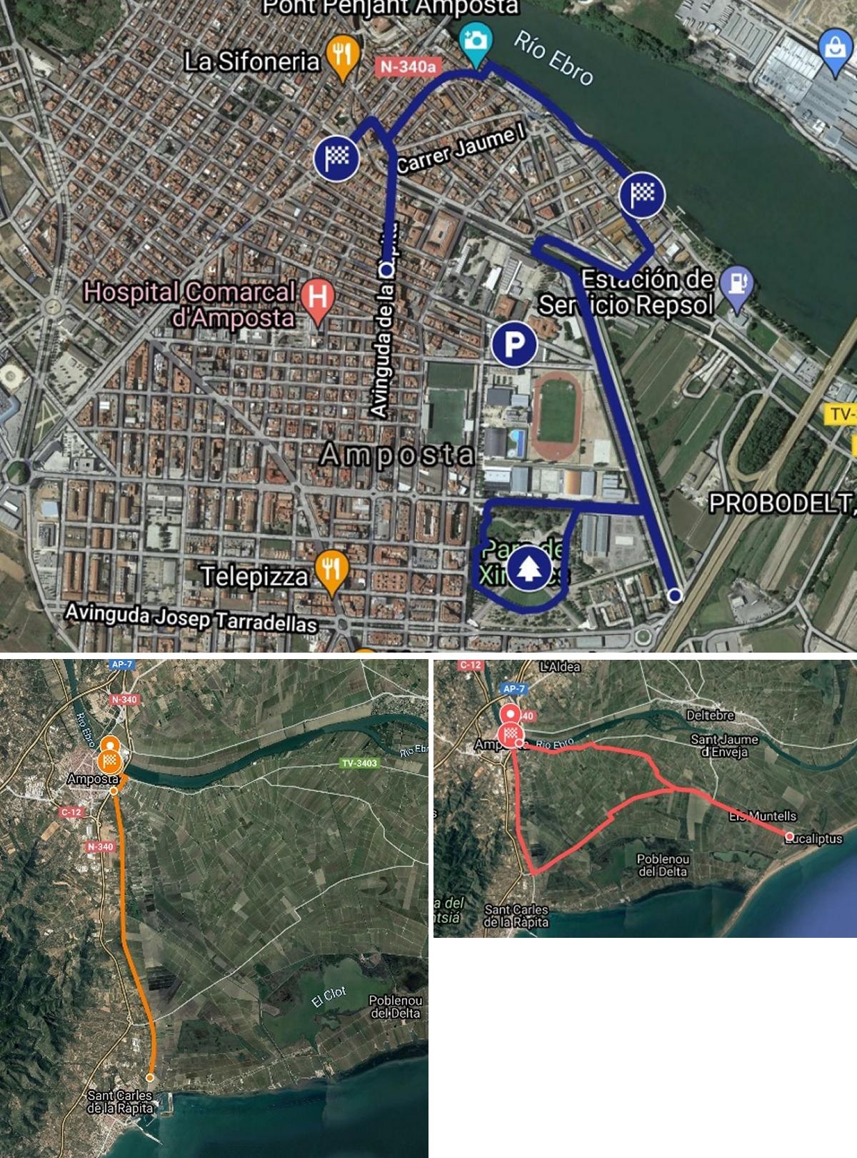 Afectacions de trànsit durant el cap de setmana a causa del Triatló Amposta | Amposta.info