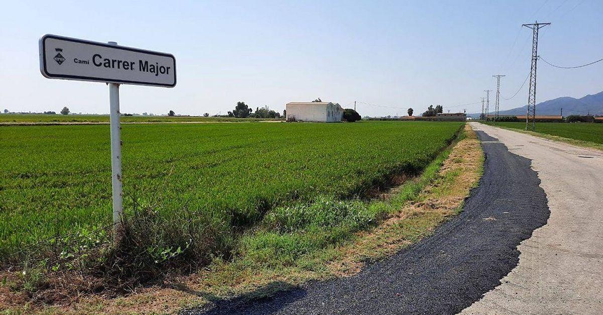Actuacions d'urgència a una quinzena de camins del Delta de cara la campanya de la sega de l'arròs