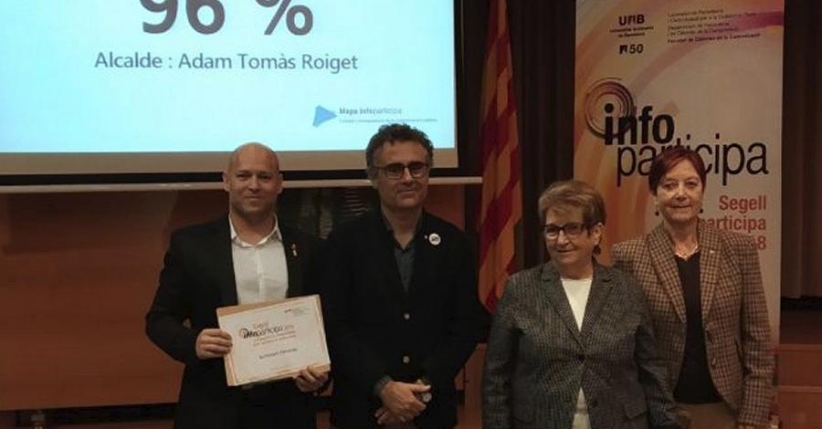 L'Ajuntament d'Amposta renova el Segell Infoparticipa a la transparència en la comunicació