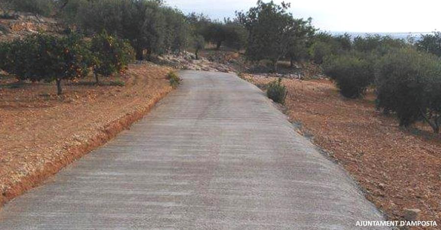 Treballs d'arranjament de camins rurals d'Amposta | Amposta.info
