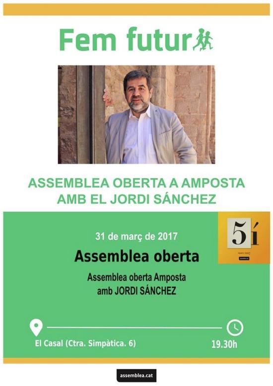 Fem futur: assemblea oberta a Amposta amb el Jordi Sánchez