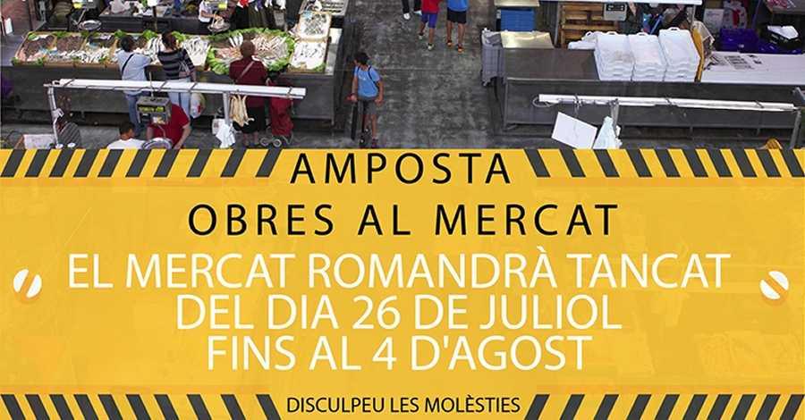 El Mercat Municipal tancarà uns dies per obres de millores