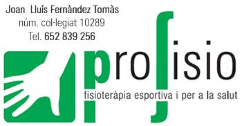 PROFISIO. Joan Lluís Fernàndez Tomàs Nº Colegiat: 10289