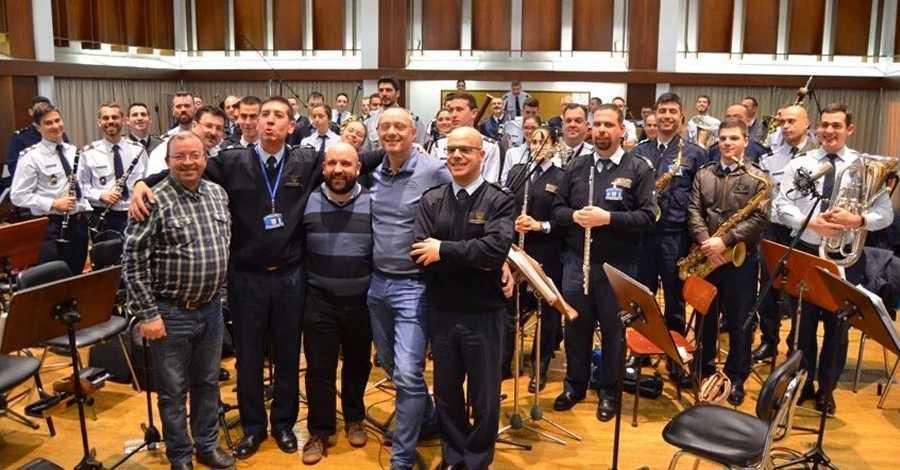 La Banda de Música da Força Aérea Portuguesa enregistra una obra de Lionel Beltran