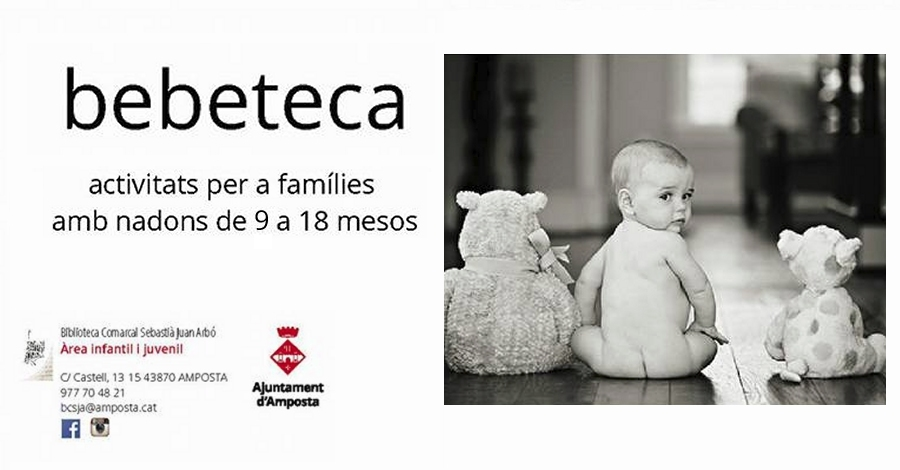 Bebeteca de 18 a 36 mesos. Musicoteràpia en família, a càrrec d'Alba Garcia.