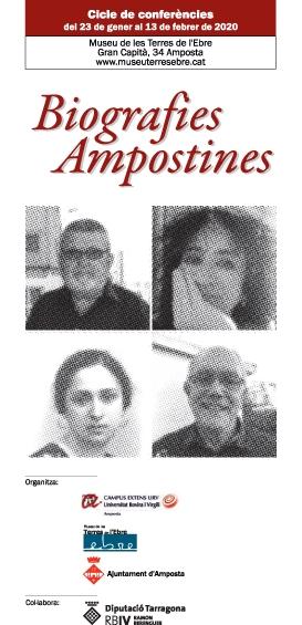 Antonio Solé, Antonia P.Ripoll, Manola Forcadell i Toni Costes, protagonistes de «Biografies Ampostines» | Amposta.info