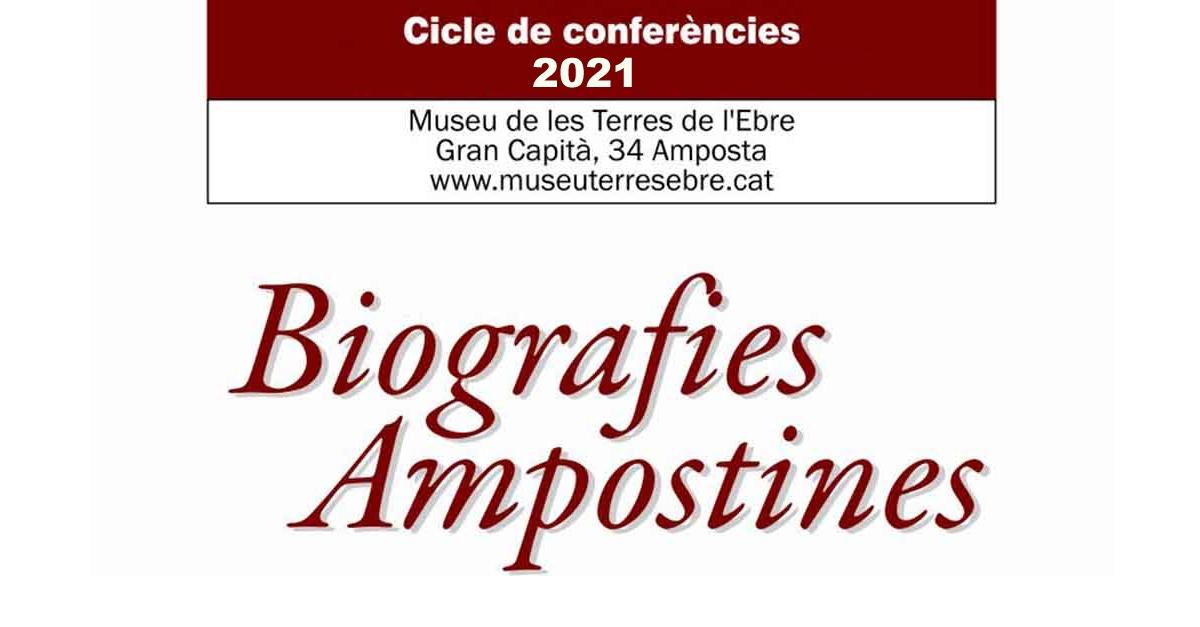 """[AJORNAT] Cicle de conferències Biografies ampostines """"Manel Margalef"""