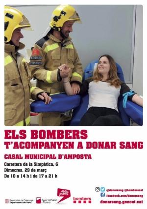 La Campanya «Els bombers t'acompanyen a donar sang» arriba avui a Amposta | Amposta.info