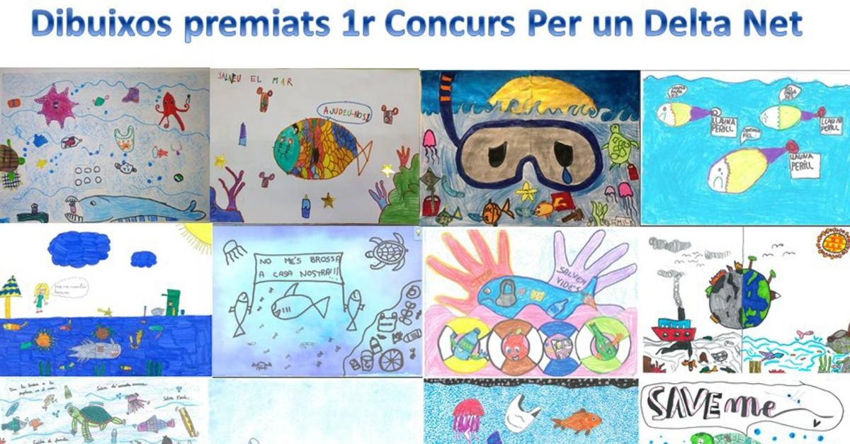 El Parc Natural del Delta de l'Ebre publica un calendari digital amb els dibuixos premiats del primer concurs sobre brossa marina
