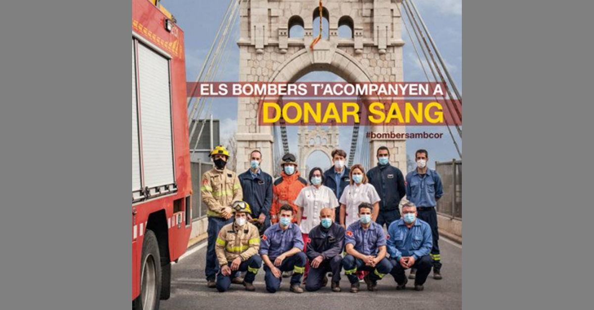 Els Bombers de la Generalitat i el Banc de Sang sumen esforços per aconseguir 5.000 donacions al març