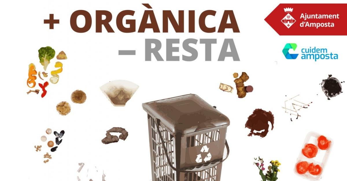 Amposta engega una campanya per millorar la recollida dels residus orgànics