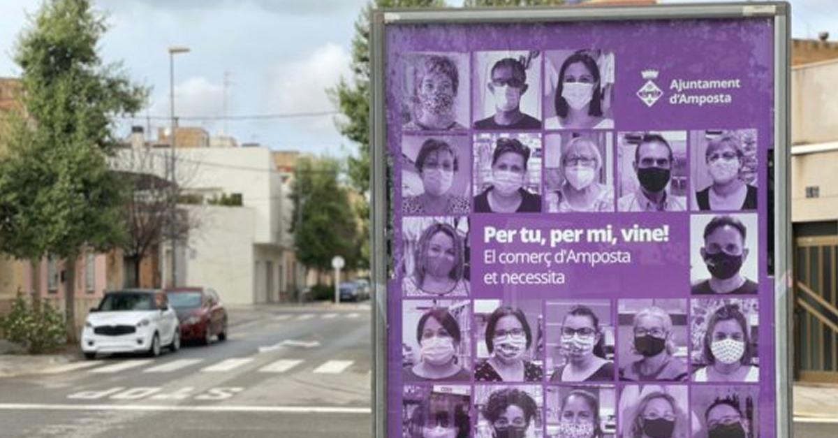'Per tu, per mi, vine!', la campanya de suport al comerç, la restauració i la cultura d'Amposta