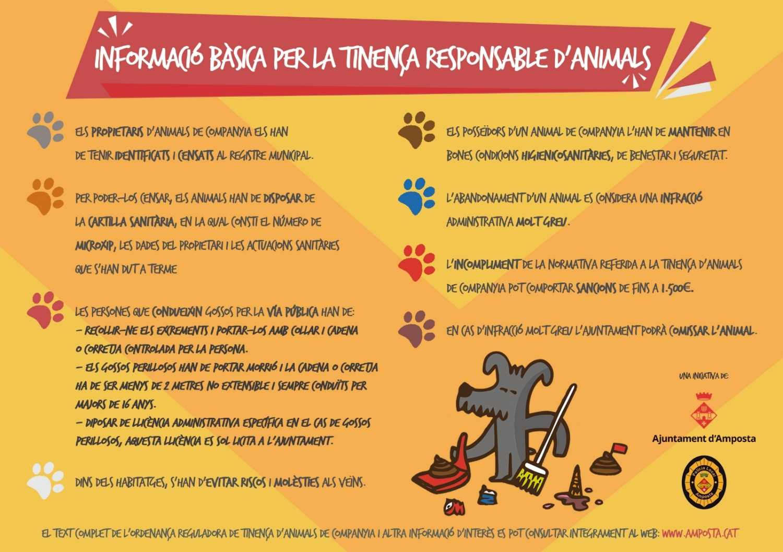 Campanya de civisme sobre la tinença d'animals | Amposta.info