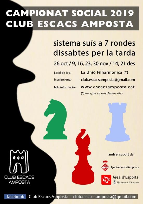 Campionat social 2019 Club d'Escacs Amposta
