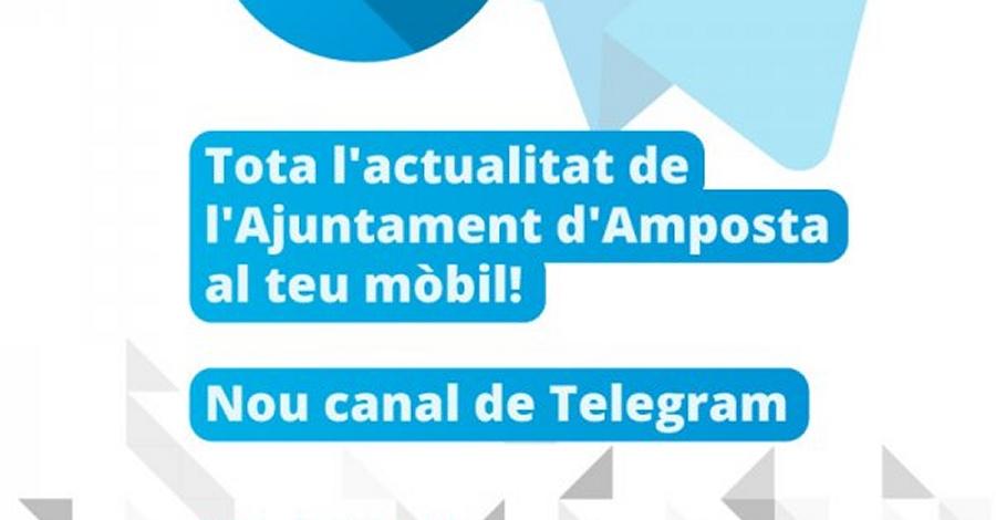 L'Ajuntament d'Amposta obre un canal de Telegram per difondre l'actualitat municipal | Amposta.info