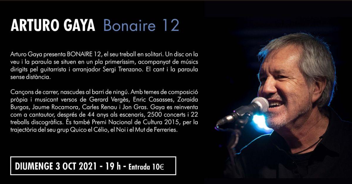 27è Cicle de Música Ciutat d'Amposta: Arturo Gaya presenta el seu disc Bonaire 12
