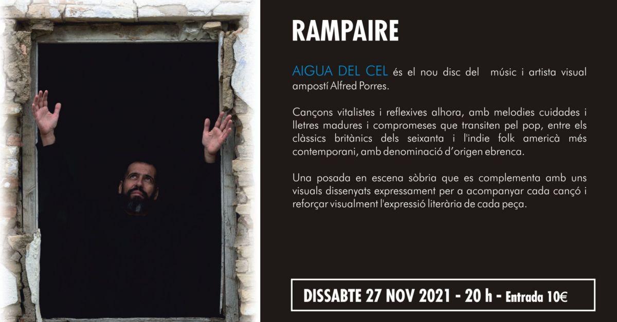 27è Cicle de Música Ciutat d'Amposta: Rampaire presenta el seu disc Aigual del Cel