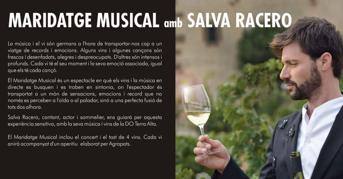 27è Cicle de Música Ciutat d'Amposta: Maridatge musical amb Salva Racero