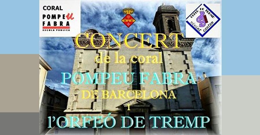 Concert de la coral Pomeu Fabra de Barcelona i l'Orfeó de Tremp