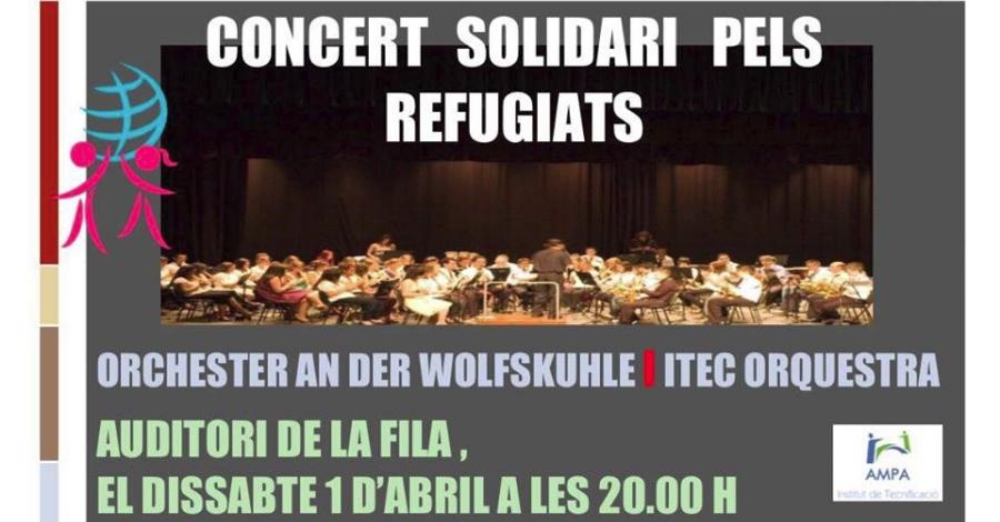 Concert solidari pels refugiats: Orchester an der Wolfskuhle i ITEC Orquestra