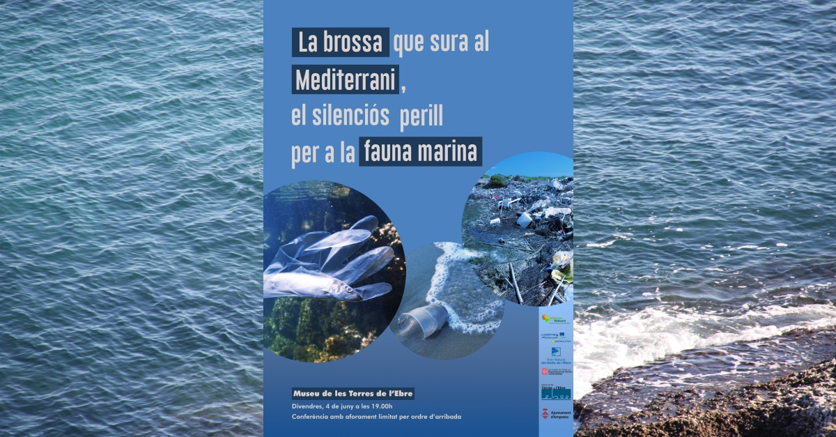 Conferència «La brossa que sura al Mediterrani, el silenciós perill per a la fauna marina» | Amposta.info