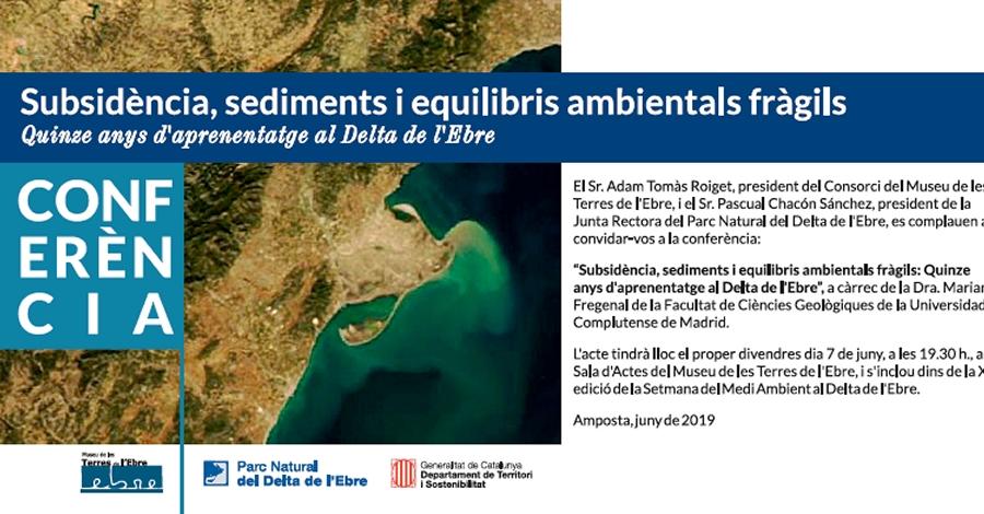 Conferència «Subsidència, sediments i equilibris ambientals fràgils»