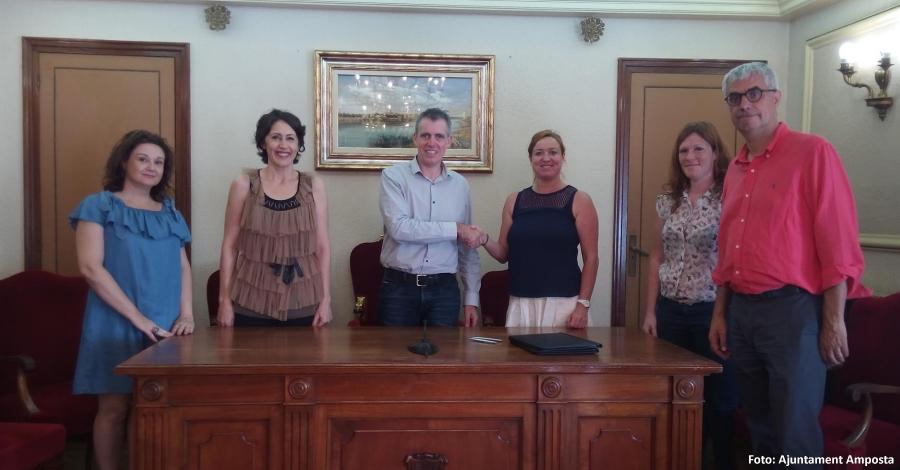 L'Ajuntament d'Amposta i l'Obra Social «la Caixa» signen un nou conveni de col·laboració