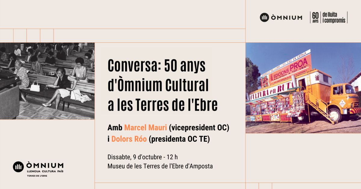 Conversa: 50 anys d'Òmnium Cultural a les Terres de l'Ebre