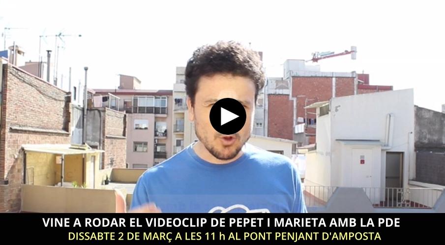 Vols participar en l'enregistrament d'un videoclip de Pepet i Marieta?