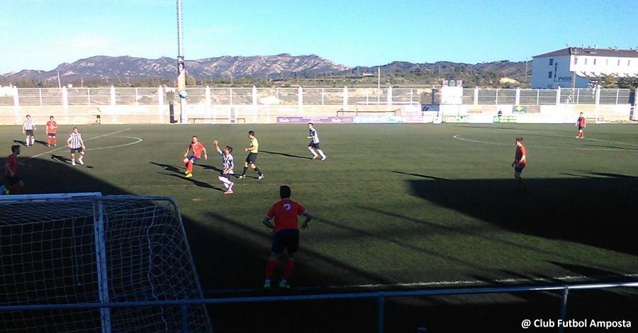 El CF Amposta empata a Gandesa i es situa quart a la classificació de segona catalana