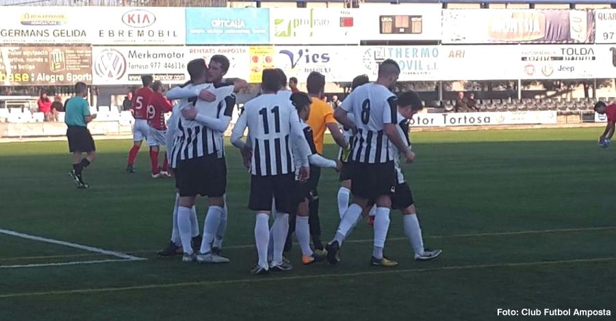 Victòria contundent del CF Amposta per 4 gols a 0 contra l'Hospitalet de l'Infant