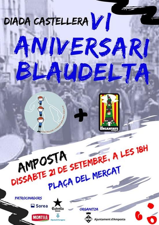 Diada Castellera VI Aniversari Blaudelta