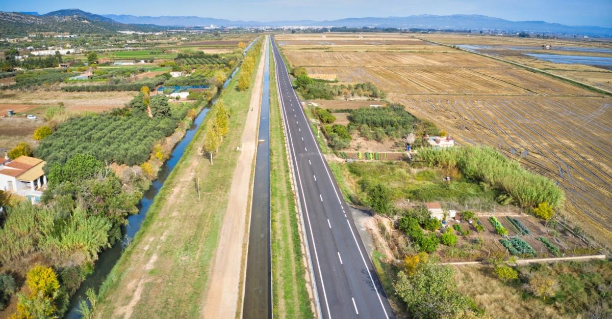 La Diputació finalitza les obres de condicionament de la carretera TV-3408 entre Amposta i La Ràpita