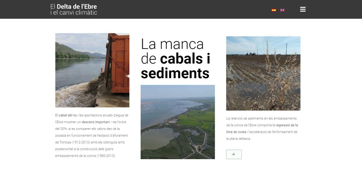 Es presenta a Europa una exposició virtual sobre els efectes del canvi climàtic al delta de l'Ebre
