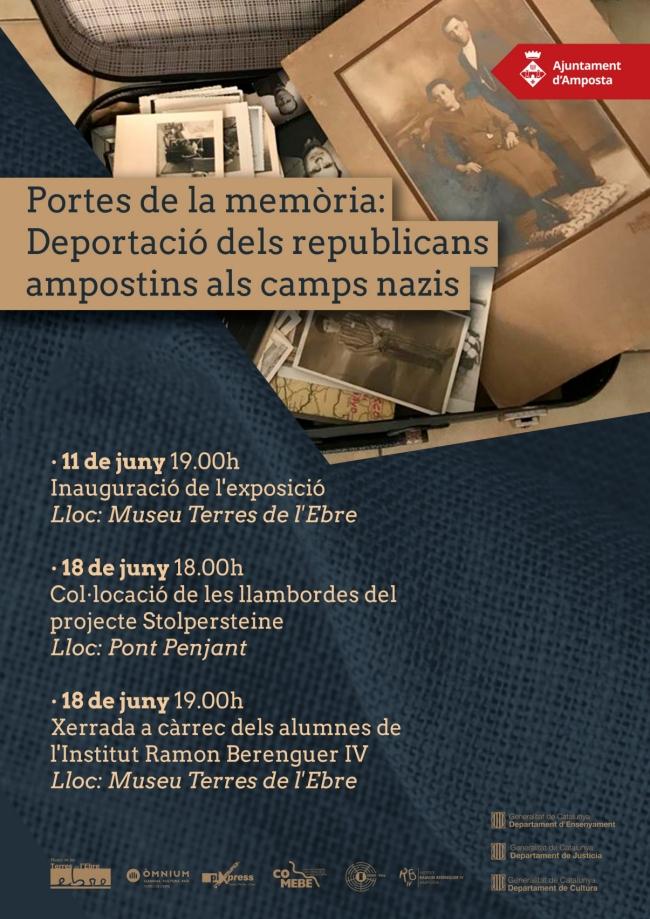 Exposició: «Portes de la memòria: Deportació dels republicans ampostins als camps nazis»