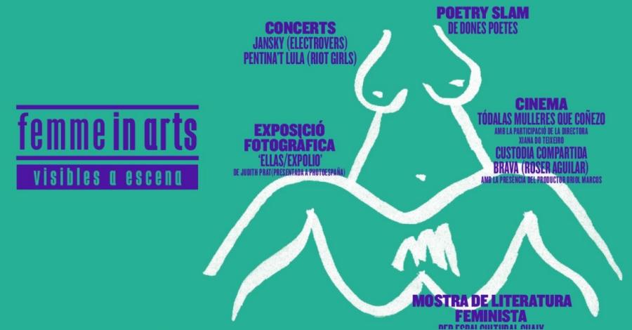 La 2a edició de Femme in Arts proposa una explosió creativa femenina per incentivar el debat sobre la violència de gènere