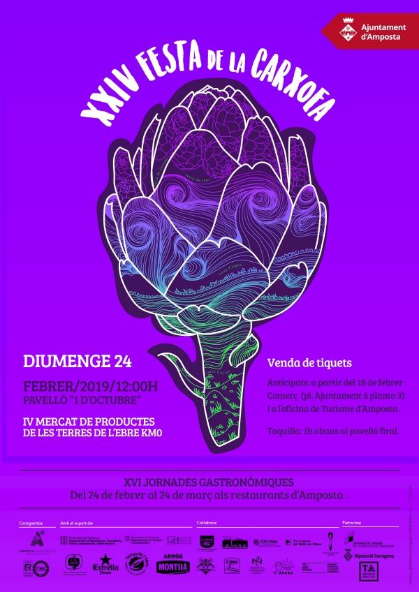 XXIV Festa de la Carxofa. Mercat de productes de les Terres de l'Ebre de Km.0