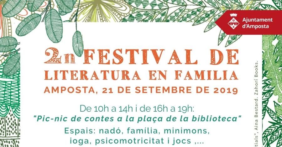 2n Festival de Literatura en família **AJORNAT AL 28 DE SETEMBRE
