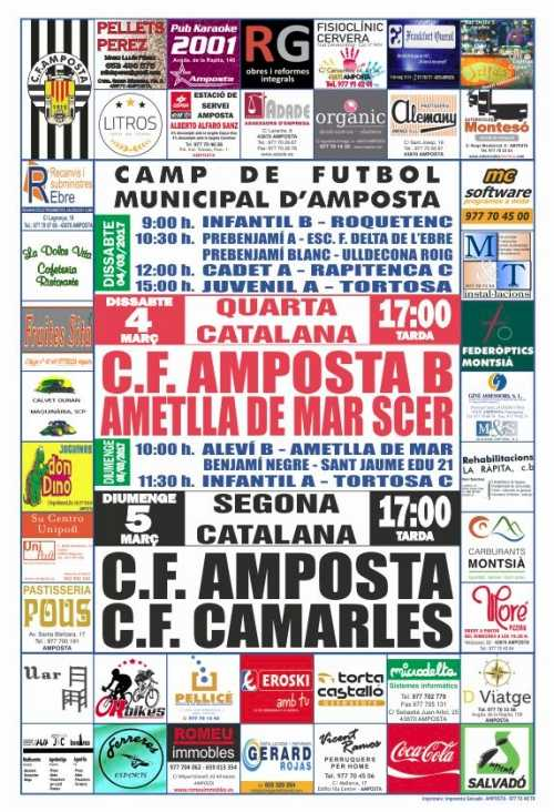 Futbol: CF AMPOSTA B – AMETLLA DE MAR SCER
