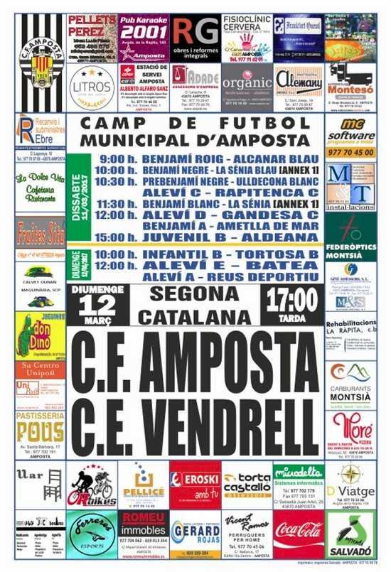 Futbol: CF AMPOSTA - CE VENDRELL
