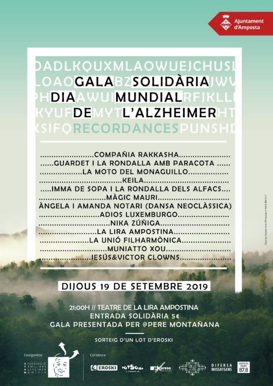 Gala solidària Dia Mundial de l'Alzheimer