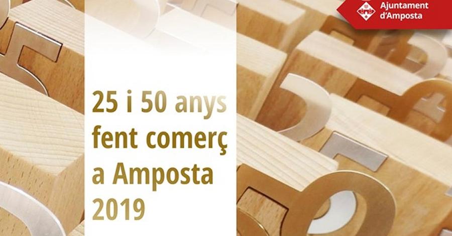 25 i 50 anys fent comerç a Amposta 2019