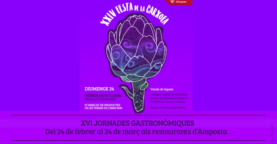 XVI Jornades Gastronòmiques de la Carxofa d'Amposta