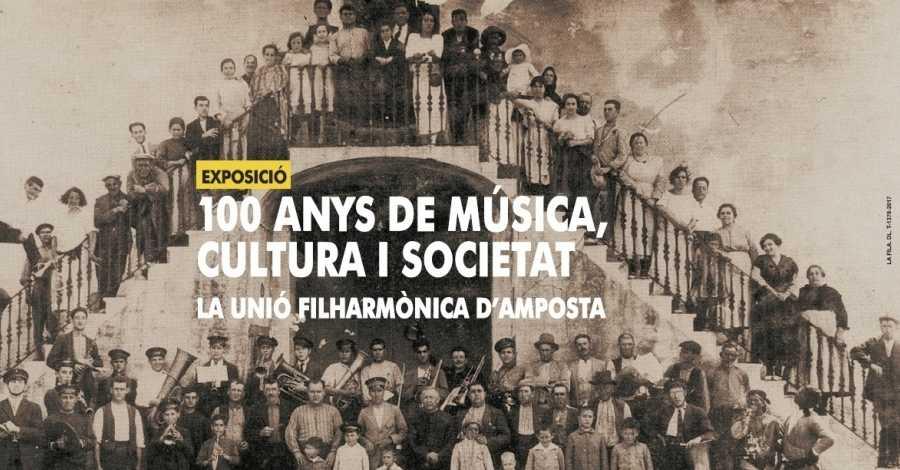 """La Unió Filharmònica d'Amposta presenta l'exposició """"100 anys de música, cultura i societat"""""""