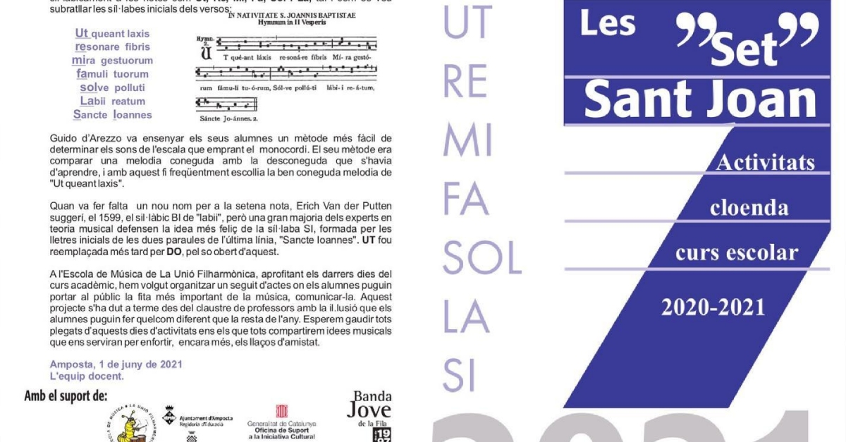 Les Set per Sant Joan: Audicions alumnes de l'Escola de Música de la Unió Filharmònica d'Amposta